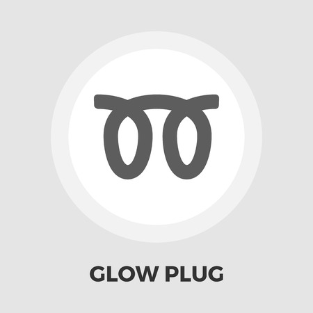 malfunction: Glow plug icon vector. Flat icon isolated on the white background.