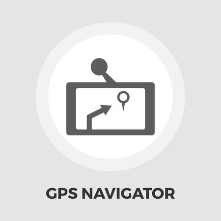 thoroughfare: GPS navigator icon vector. Flat icon isolated on the white background.