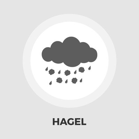 hailstorm: Hagel icon vector. Flat icon isolated on the white background. Illustration