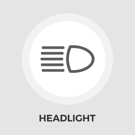 Headlight icon vector. Flat icon isolated on the white background.