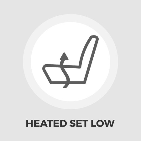 arts system: Heated set low icon vector. Flat icon isolated on the white background. Illustration
