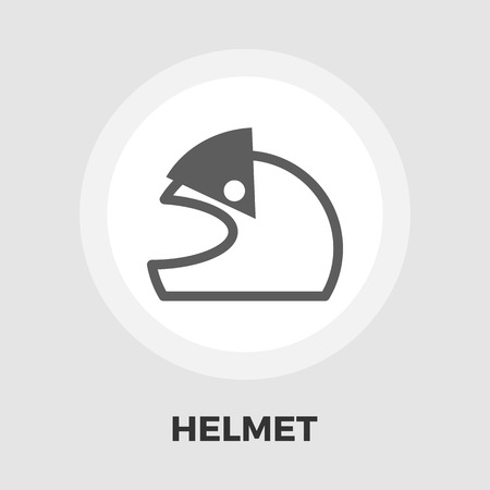 motorcycle helmet: Motorcycle helmet icon vector. Flat icon isolated on the white background. Illustration