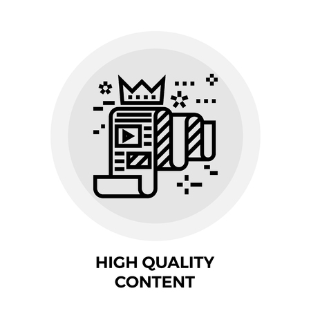 quality icon: High Quality Content Icon Vector Illustration
