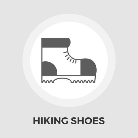 hiking shoes: Hiking shoes icon vector. Flat icon isolated on the white background. Editable EPS file. Vector illustration. Illustration