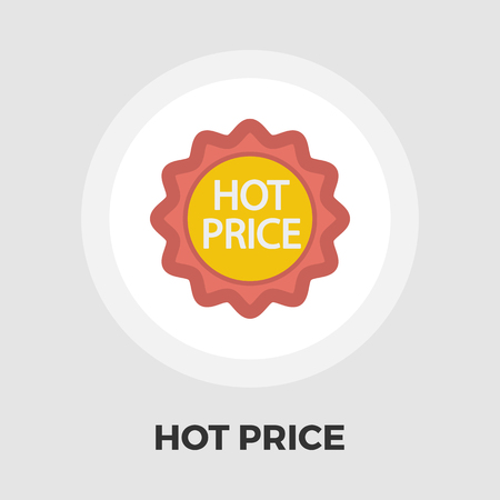 Hot Price icon vector. Flat icon isolated on the white background. Editable EPS file. Vector illustration.
