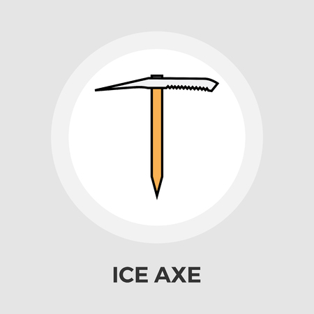 traditional climbing: Ice axe icon vector. Flat icon isolated on the white background. Editable EPS file. Vector illustration.