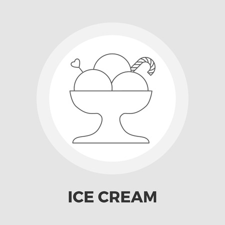 soft serve ice cream: Ice Cream Icon Vector. Flat icon isolated on the white background. Editable EPS file. Vector illustration.