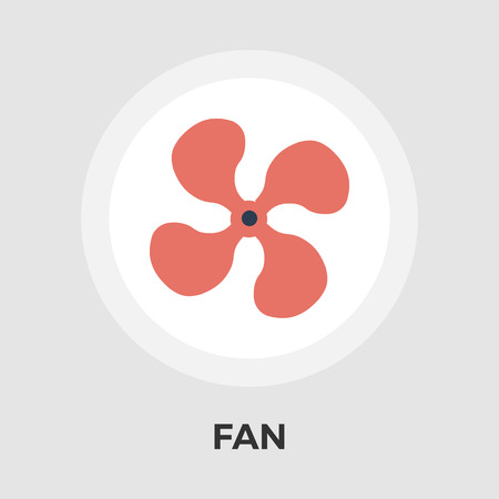 Fan icon vector. Flat icon isolated on the white background. Editable EPS file. Vector illustration.