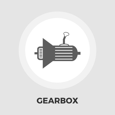 automatic transmission: Gear icon vector. Flat icon isolated on the white background. Editable EPS file. Vector illustration.