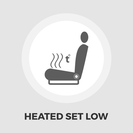 heated: Heated seat icon vector. Flat icon isolated on the white background. Editable EPS file. Vector illustration.