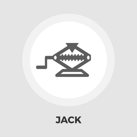 screw jack: Jack icon vector. Flat icon isolated on the white background. Editable EPS file. Vector illustration.