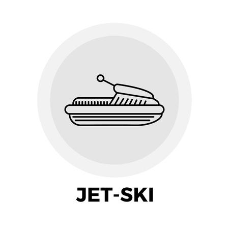 jetski: Jet-Ski icon vector. Flat icon isolated on the white background. Editable EPS file. Vector illustration.