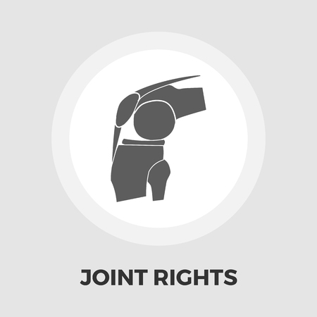 sprain: Joint icon vector. Flat icon isolated on the white background. Editable EPS file. Vector illustration. Illustration
