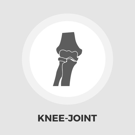patella: Knee-joint icon vector. Flat icon isolated on the white background. Editable EPS file. Vector illustration. Illustration
