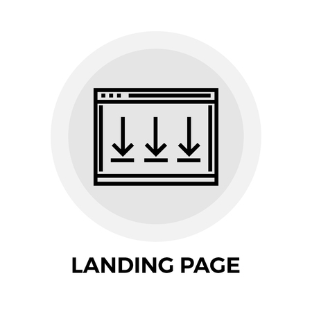 landing: Landing Page icon vector. Flat icon isolated on the white background. Editable EPS file. Vector illustration.