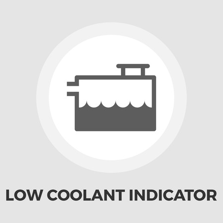 coolant: Low coolant indicator icon vector. Flat icon isolated on the white background. Editable EPS file. Vector illustration. Illustration