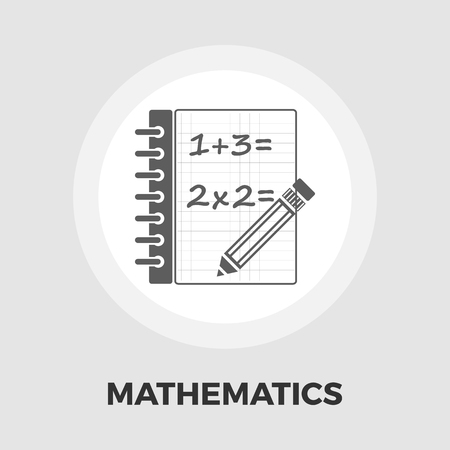 cosine: Mathematics icon vector. Flat icon isolated on the white background. Editable EPS file. Vector illustration.