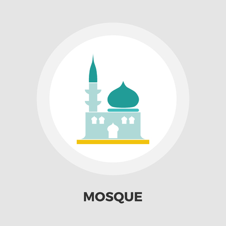 eastern spirituality: Mosque icon vector. Flat icon isolated on the white background. Editable EPS file. Vector illustration. Illustration
