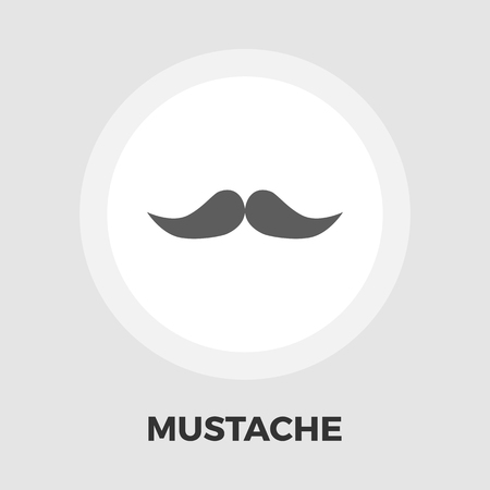 goatee: Mustache icon vector. Flat icon isolated on the white background. Editable EPS file. Vector illustration.
