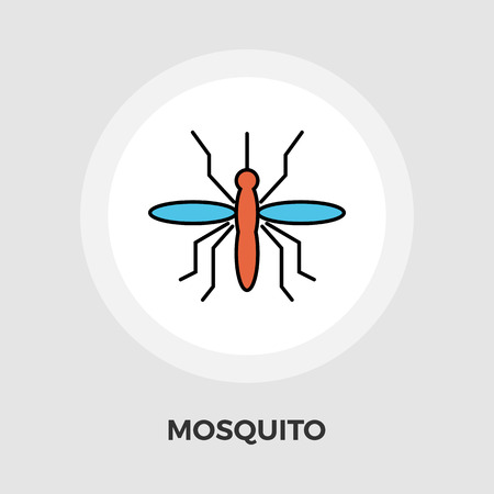 anopheles: Mosquito icon vector. Flat icon isolated on the white background. Editable EPS file. Vector illustration. Illustration