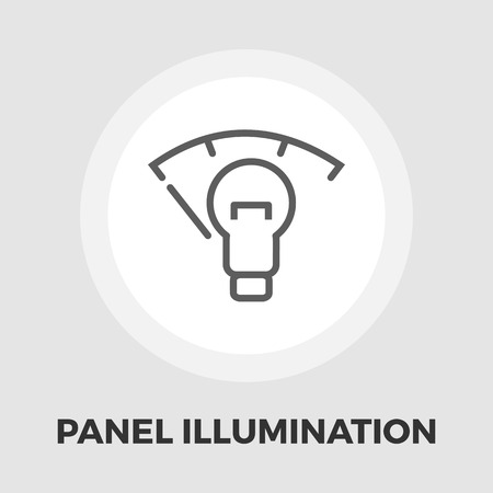 car dashboard: Car dashboard panel illumination icon vector. Flat icon isolated on the white background. Editable EPS file. Vector illustration.