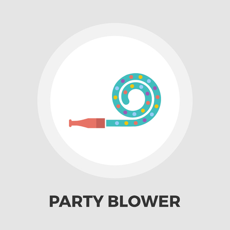 party horn blower: Party blower icon vector. Flat icon isolated on the white background. Editable EPS file. Vector illustration.