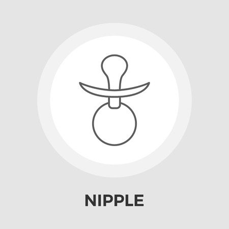 comforter: Nipple icon vector. Flat icon isolated on the white background.