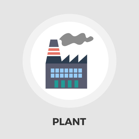 clipart chimney: Factory icon vector. Flat icon isolated on the white background. Editable EPS file. Vector illustration. Illustration