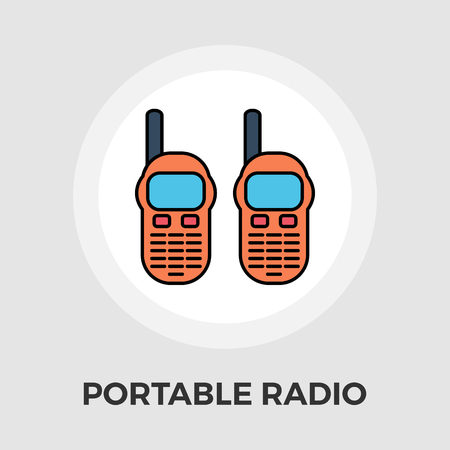 cb phone: Portable radio icon vector. Flat icon isolated on the white background. Editable EPS file. Vector illustration.