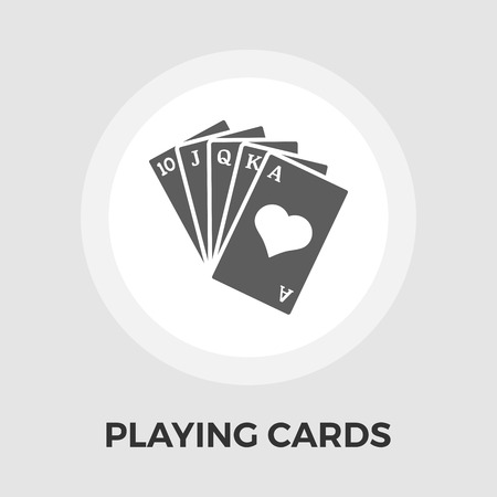 double the chances: Playing Cards Icon Vector. Flat icon isolated on the white background. Editable EPS file. Vector illustration.