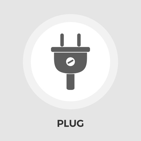 electrical plug: Electrical plug icon vector. Flat icon isolated on the white background. Editable EPS file. Vector illustration.