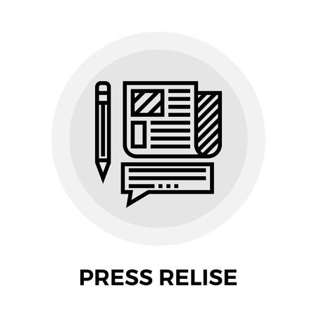 press release: Press release icon vector. Flat icon isolated on the white background. Editable EPS file. Vector illustration.