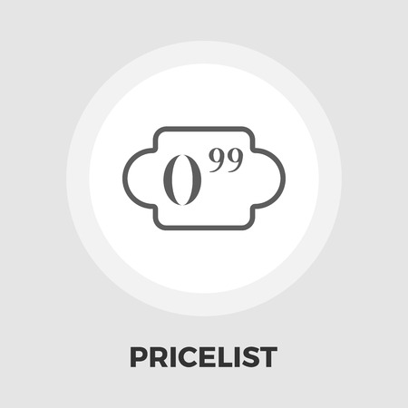 price list: Price list icon vector. Flat icon isolated on the white background. Editable EPS file. Vector illustration.