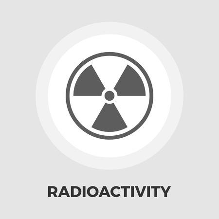 radioactivity: Radioactivity icon vector. Flat icon isolated on the white background. Editable EPS file. Vector illustration.