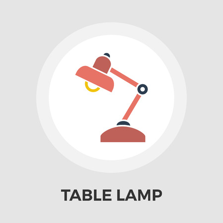 lamplight: Reading-lamp icon vector. Flat icon isolated on the white background. Editable EPS file. Vector illustration.