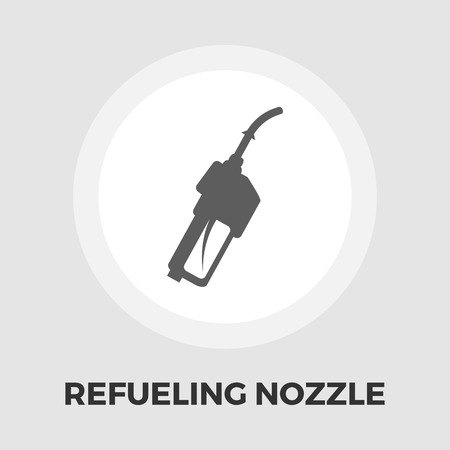refueling: Refueling nozzle icon vector. Flat icon isolated on the white background. Editable EPS file. Vector illustration.