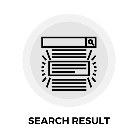 the optimizer: Search Result icon vector. Flat icon isolated on the white background. Editable EPS file. Vector illustration.