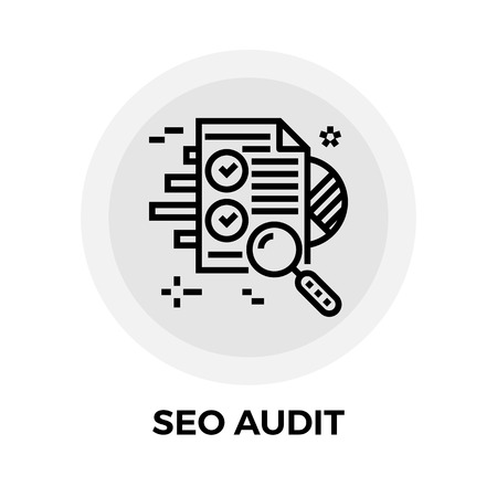 SEO Audit icon vector. Flat icon isolated on the white background. Editable EPS file. Vector illustration.