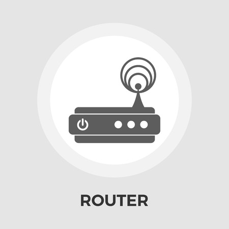 dsl: Router icon vector. Flat icon isolated on the white background. Editable EPS file. Vector illustration.