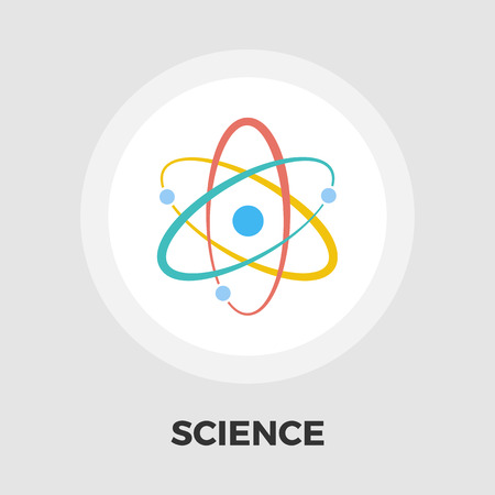 photons: Atom icon vector. Flat icon isolated on the white background. Editable EPS file. Vector illustration.