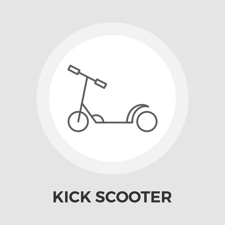 glide: Scooter child icon vector. Flat icon isolated on the white background. Editable EPS file. Vector illustration. Illustration