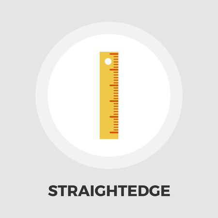 straightedge: Straightedge icon vector. Flat icon isolated on the white background. Editable EPS file. Vector illustration. Illustration