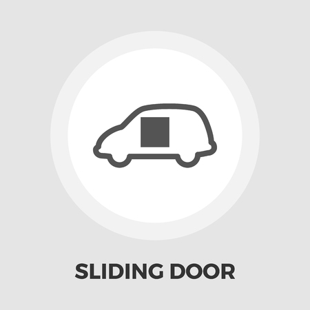 sliding: Car sliding door icon vector. Flat icon isolated on the white background. Editable EPS file. Vector illustration.