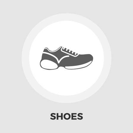 simplification: Shoes icon vector. Flat icon isolated on the white background. Editable EPS file. Vector illustration.