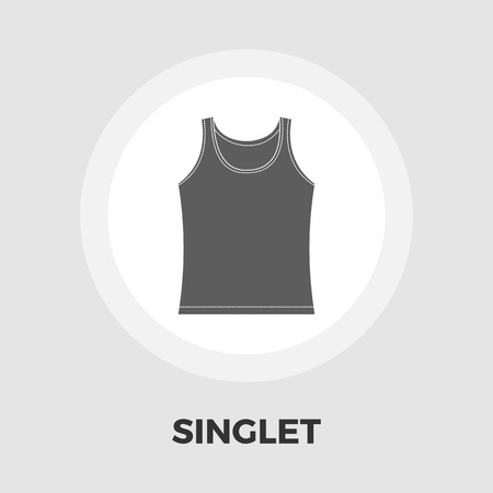 singlet: Singlet icon vector. Flat icon isolated on the white background. Editable EPS file. Vector illustration. Illustration