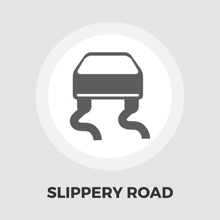 road design: Slip-indicator icon vector. Flat icon isolated on the white background. Editable EPS file. Vector illustration.