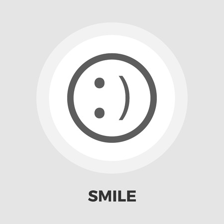 friendliness: Smile icon vector. Flat icon isolated on the white background. Editable EPS file. Vector illustration.