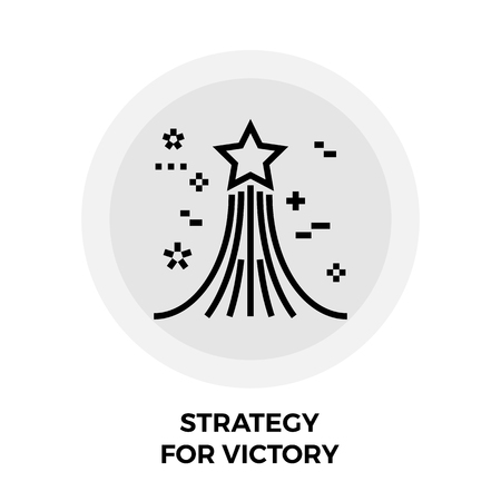 succes: Strategy icon vector. Flat icon isolated on the white background. Editable EPS file. Vector illustration. Illustration