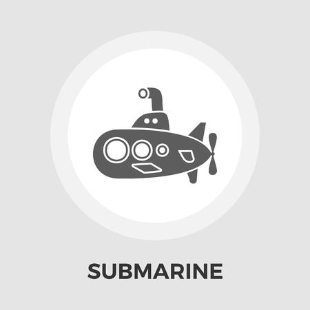 periscope: Submarine icon vector. Flat icon isolated on the white background. Editable EPS file. Vector illustration.