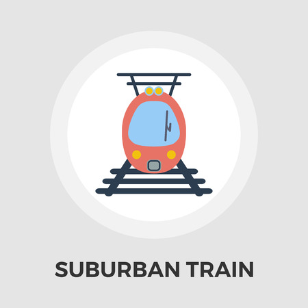 suburban street: Suburban electric train icon vector. Flat icon isolated on the white background. Editable EPS file. Vector illustration.